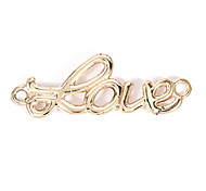 Alloy LOVE Pattern DIY Charms Pendants for Bracelet & Necklace(10 PCS Per Package)
