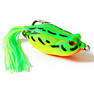 Fishing Bait Frog 60mm/16g Yellow&Green Fishing Lure Pack with Two Hooks