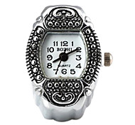 Women's Rectangle Dots Pattern  Quartz Metallic Ring Watch
