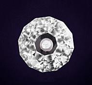 Aço inoxidável Cor Mudar Solar Jardim Luz LED com diamante Forma Stalinite Sombra