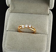 Women's New Gold Plated Hot Selling Classic Styling Zircon Rings