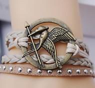 Leather Bracelet Multilayer Alloy Game Birds Charms Handmade Braclet