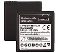 1900 mAh Rechargeable Li-ion Battery for Sony Ericsson BA800/LT26i