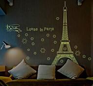 Arquitetura Doudouwo ® A torre Eiffel em Paris Luminous Wall Stickers