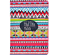 Tribal Tattoo Hakuna Matata Pattern PU Leather Full Body Case with Stand for iPad Air