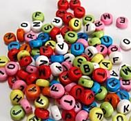 z&x® perles bricolage couleur matériau de perles de lettre 100 pcs (couleur aléatoire, motif)