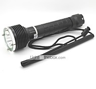LT-4751 UCL Lens 1 Modes 1xCree XML T6 Diving Led Flashlight(1000LM.2x18650.Black)