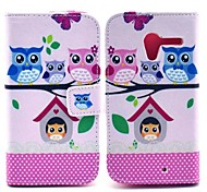 Happy Owls Wallet Style Foldable Flip Stand Leather Case for Motorola X XT1058