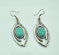 Toonykelly ® Vintage (Bowknot) argento antico turchese Orecchini (verde) (1Pair)