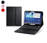 """Faux Leather Flip Case with Built-in Bluetooth Keyboard for Samsung Galaxy Tab 3 P5200 10.1"""" Tablet PC"""
