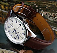 Men's Gentlemen Delicate Generous Waterproof Luminous Leather Wrist Watch
