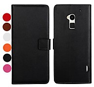 Solid Color Pattern PU Leather Full Body Case with Stand and Card Slot for HTC One MAX T6 (Assorted Colors)