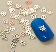 200PCS Four-leaf clover Shape Slice Metal Nail Art Decoration