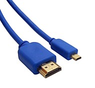 MICRO HDMI Cable MICRO HDMI Male to HDMI Male 1.4V Blue