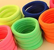 (3pc zufällig) recht einfach und zweckmässig Fuzzy multicolor starke elastische Haarbänder