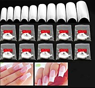 10x50PCS Mixs Size White Half Nail Art French Tips
