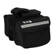 Bike Frame Bag / Compression Pack Cycling/Bike For Waterproof / Reflective Strip / Wearable , Black , 600D Polyester)