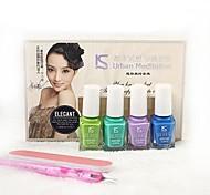 Light Color Environmental Protection Nail Polish Set (6ml,4PCS Nail Polish)