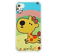 Running Giraffe  Leather Vein Pattern PC Hard Case for iPhone 4/4S