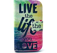 Live Sea Design PU Leather Full Body Case with Stand for Samsung Galaxy S3 Mini I8190