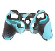 Case Skin 2pcs camuflagem protetora de silicone para PS3 controlador