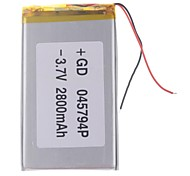 "Universal Replacement 3.7V 2800mAh  Li-polymer Battery for 7~10"" Macbook Samsung Acer Sony Apple Tablet PC (4*57*94)"