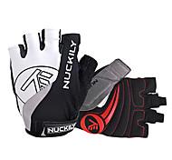 NUCKILY® Спортивные перчатки Перчатки для велосипедистов Велоперчатки Анти-скольжение / Дышащий / Светоотражающий Без пальцевПерчатки для