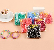 Rainbow Colorful Loom DIY Lovely Plum Blossom Weaving Rubber Band 600 PCS