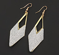 Vintage Rhombus Shape Alloy Drop Earring(1 Pair)