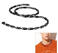 Men's Fashionable Stainless Steel Necklace (4MM 55cm / Black)