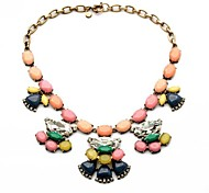 Yellow / Clear / Coppery / Green / Pink Statement Necklaces Party / Daily Jewelry