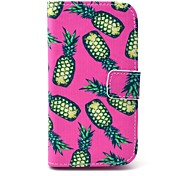 Pineapple Pink Pattern PU Leather Case Cover with Stand and Card Slot for Motorola MOTO G