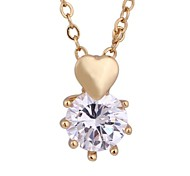 Nueva moda de corazón encantador 18k oro brillante colgante D0612