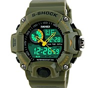 SKMEI® Men's Watch Sports Dual Time Zones 50M Waterproof Cool Watch Unique Watch