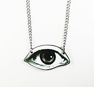 Eye Pattern Wood Necklace