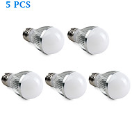 5 pcs E26/E27 4.5 W 15 SMD 5630 360 LM Natural White A Globe Bulbs AC 220-240 V