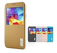 dlons ® cassa vista cuoio dell'unità di elaborazione finestra con sonno auto per Samsung Galaxy i9600 s5 (colori assortiti)