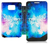 Colorful Night Sky Leather Full Body Case for Samsung Galaxy S2 I9100