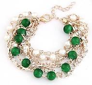 Alloy Bracelet Multilayer Diamond Ladies Fashion Metal Chain Beads  Bracelet