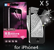 Diamond Anti-radiation Screen Protector for iPhone4/4S(5PCS)