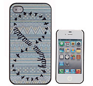 Double Circle Wild Geese farbige Zeichnung, Muster, Black Frame PC Hard Case für iPhone 4/4S