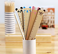 Cute Animal Wood Straight Ruler(Assorted Color)