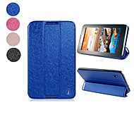 Super-thin Faux Leather Double Folded Wiredrawing Flip Case for Lenovo A3300