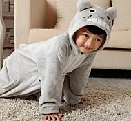 Cute Totoro Gray Flannel Kids Kigurumi Pajama