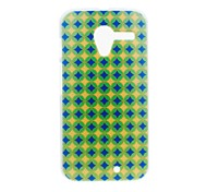 Kinston Blue and Yellow Diamond Pattern Plastic Hard Case for Motorala Moto X