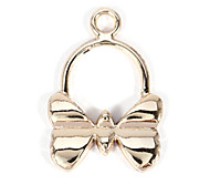 alliage bowknot bricolage charme des pendants d'oreille&collier (10 pcs par paquet)