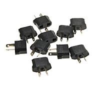 KPT-18 US Socket to AU Plug AC Power Adapter Plugs - Black (10 PCS / 2.5~250V)