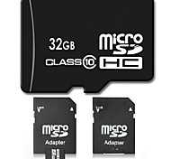 32GB Clase 10 SD/SDHC/SDXC / MicroSD/MicroSDHC/MicroSDXC/TF / Adaptadores y cajasMax Read Speed10 (MB/S)Max Write Speed10 (MB/S)