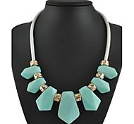 moda colorida resina declaração jóia colar
