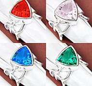 Unique Quartz Vert Bleu Topaze topaze rose quartz de pierre gemme rouge Bague en argent 1PC